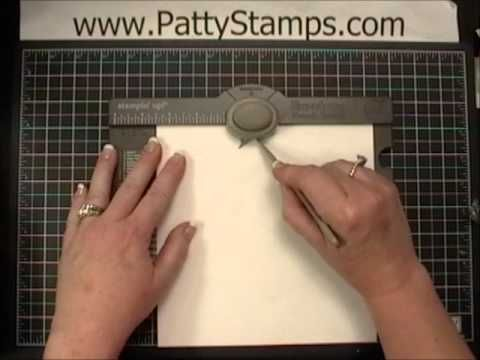 www.PattyStamps.com - video tutorial how to use the Envelope Punch Board to make decorative envelopes
