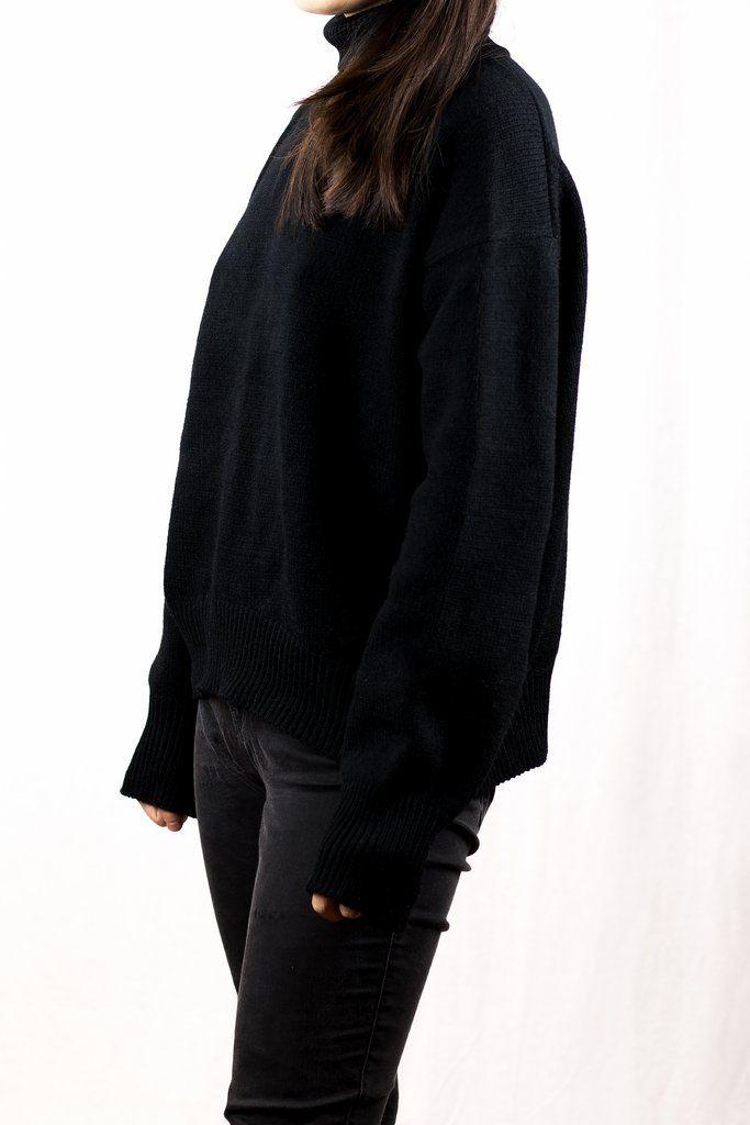 Black Turtle Neck Sweater