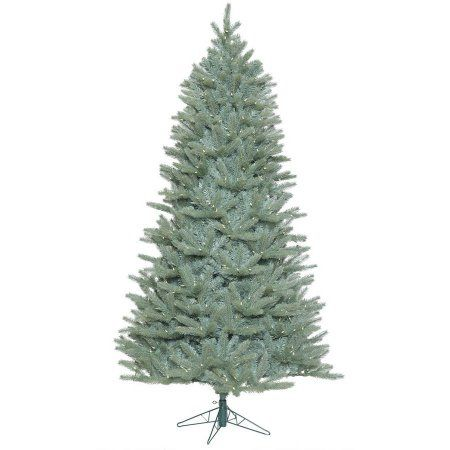 Vickerman 9' Colorado Blue Spruce Slim Artificial Christmas Tree with 1200 Warm White LED Lights, Green