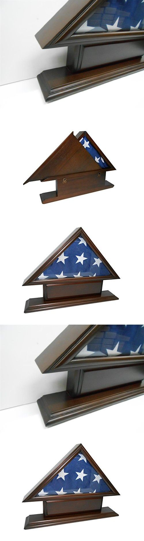 5'x9' Flag Case for Veteran / Funeral / Burial Flag - With Name Plate