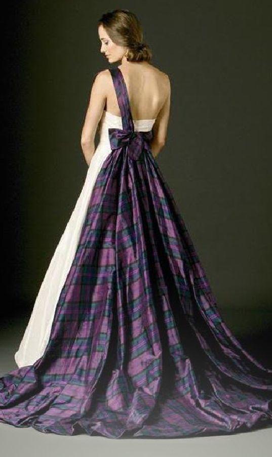 26 impossibly beautiful scottish wedding ideas joyce for Scottish wedding dresses with tartan