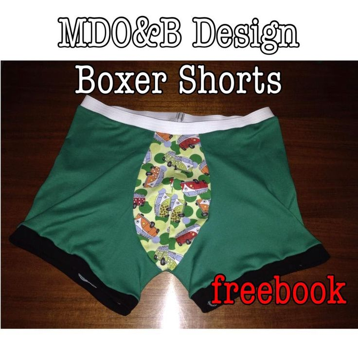 Schicke Boxershorts / Retroshorts in allen Farben - dank des Freebooks von MDO & B - Designs kein Problem. Gr S-XL