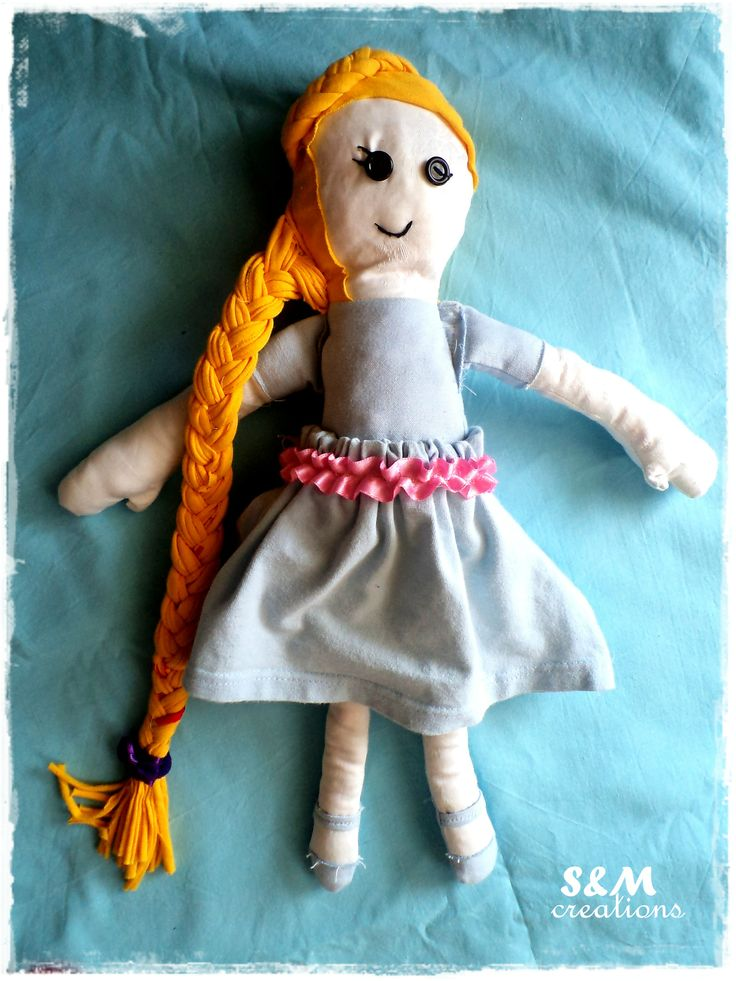 """My little girl loves rapunzel, so I make one for her. Maybe it isn""""t perfect , but she loves her..."""