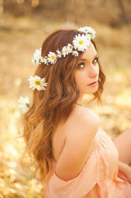 Daisy Floral Crowncreated with wild daisies by LoveSparklePretty, $42.00