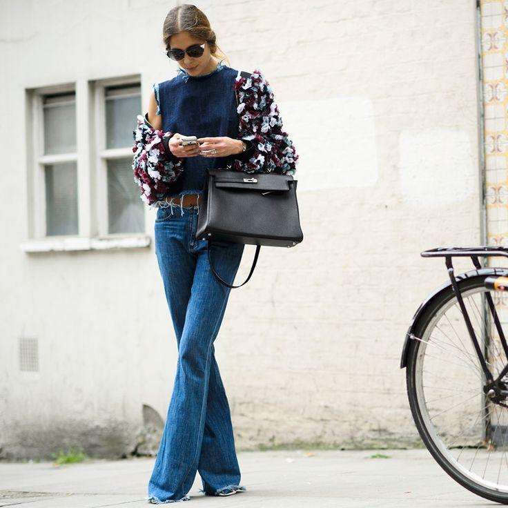 wide leg jeans - Street Style Fashion: Rachel Zoe Picks Her Faves | The Zoe Report...