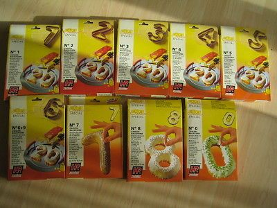 Backformen Zahlen 1 2 3 4 5 6 7 8 9 0 in Möbel & Wohnen, Kochen & Genießen, Backbleche & -formen | eBay