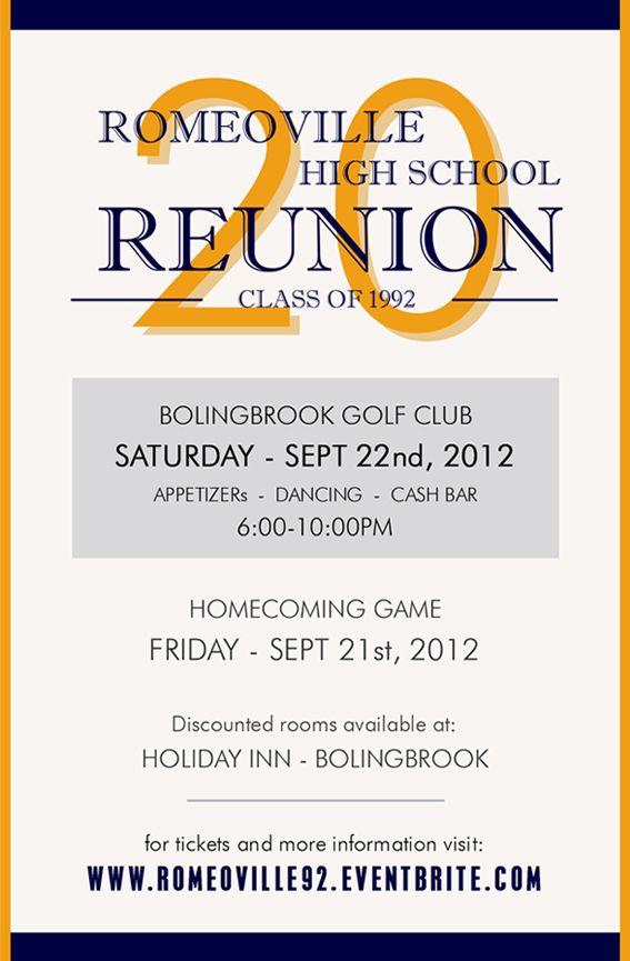 90 best Class Reunion images on Pinterest High schools, Class - class reunion invitation template