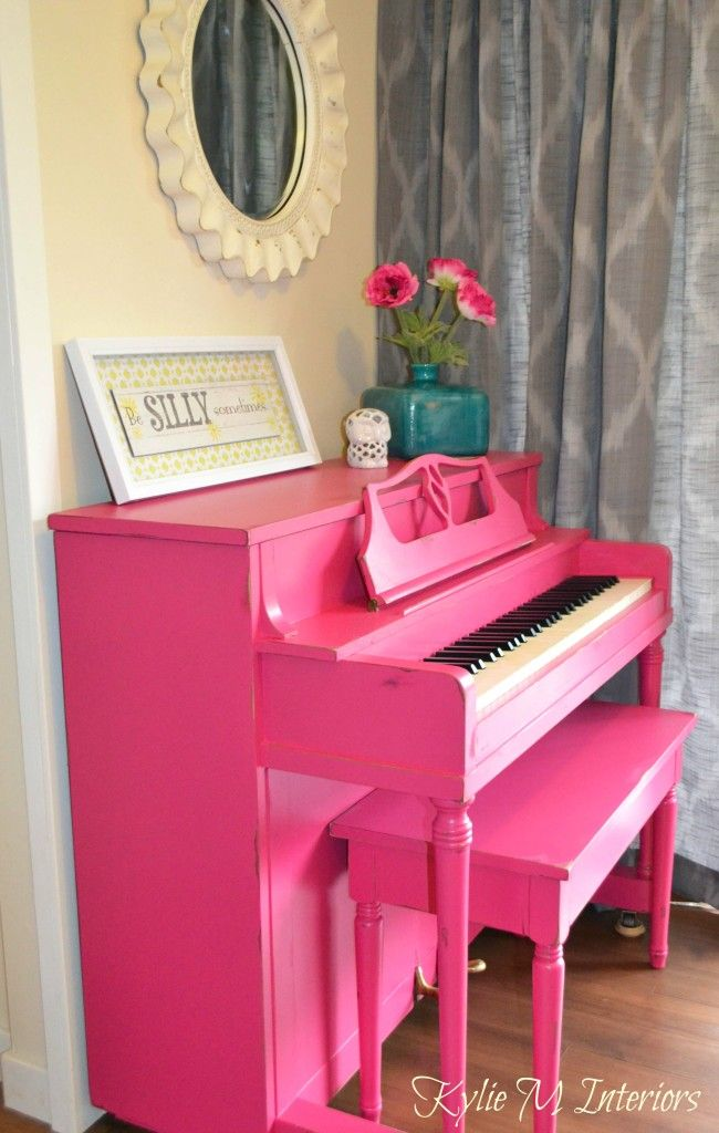 pink piano painted and distressed benjamin moore peony pink