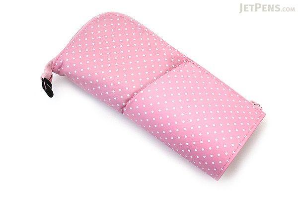 Kokuyo Neo Critz Pencil Case - Pink Dot / Pink - KOKUYO F-VBF180-5