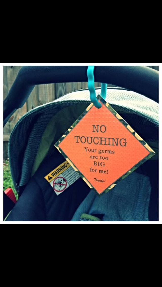 I need to just sew one of these on my girls clothes! Every one is constantly trying to touch her hold her and kiss her.