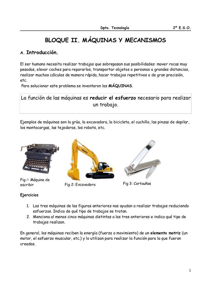 2º ESO Mecanismos de transmisión. Apuntes y ejercicios. by ramon49600 via slideshare