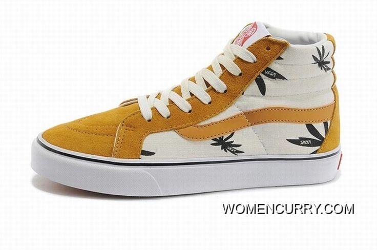 https://www.womencurry.com/vans-sk8hi-leafs-yellow-womens-shoes-for-sale.html VANS SK8-HI LEAFS YELLOW WOMENS SHOES FOR SALE Only $68.15 , Free Shipping!