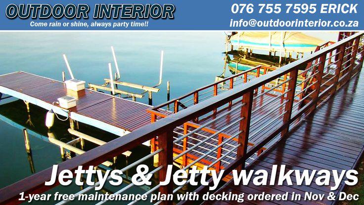 Jettys & Jetty Walkways - http://outdoorinterior.co.za/2015/11/13/jettys-jetty-walkways/