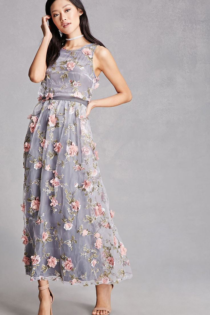 Forever 21 sheer floral maxi dress