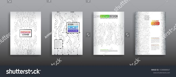 Circuit board background for magazine cover. Technology communication element for brochure. Futuristic hi-tech flyer template. Abstract digital concept booklet. Computer technology vector illustration