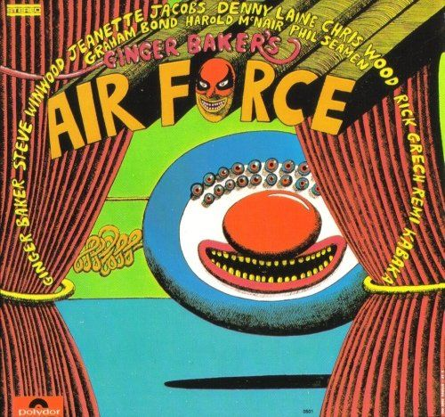 Martin Sharp's cover of Ginger Baker's 'Air Force' album, post Cream and Blind Faith, 1970
