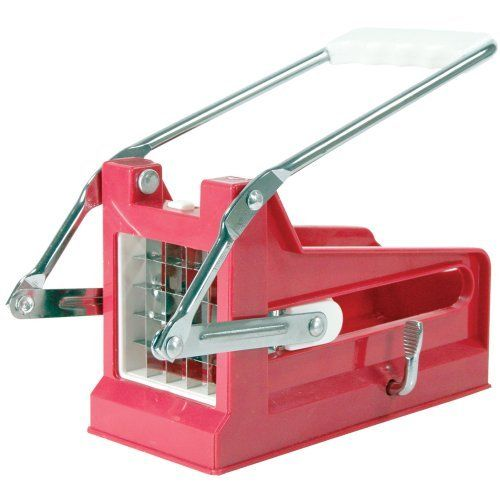 Sportsman FFCUT Home Style French Fry Cutter by Sportsman. $14.99. Overall size: 10-inch. L x 4-inch W x 5-inch H. Easily cut small potatoes into 3/8-inch or 1/2-inch strips. Secures to table or counter top with an adjustable suction cup. Includes 2 cutting attachments, 1 for thick and 1 for thin cut fries, Cut fruit and vegetable too. Cut homemade French fries for the entire family in minutes. Cut homemade French fries for the entire family in minutes with the Sportsman Se...
