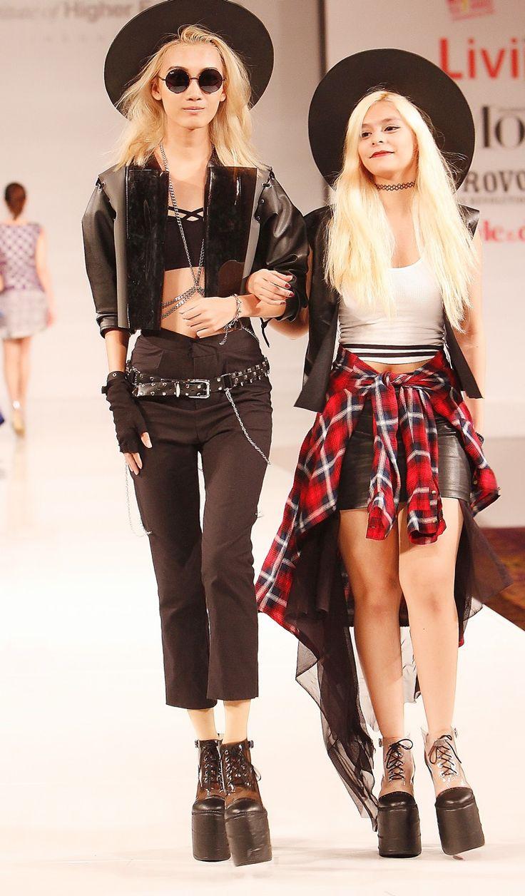 Naarah Nahama,fashion designer with her model