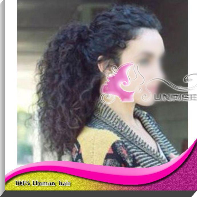 100 г афро-американских чернокожих супер курчавые волосы хвост кусок девственница перуанский волосы хвост расширения шнурок хвостики