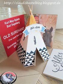 Diese Explosionbox war eine Auftragsarbeit für eine liebe Freundin. Es wurden Karten für die Karl-May-Spiele in Bad Segeberg versch...