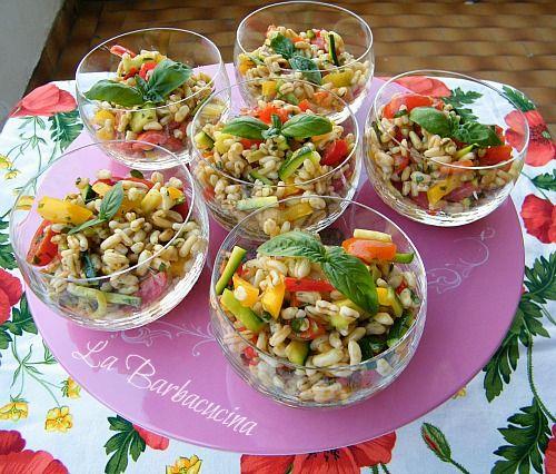 Insalata di Kamut con verdure - ricetta vegetariana