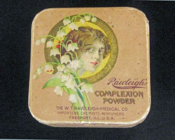 Antique  Vintage Rawleigh's Face Powder Box  Early by KISoriginals, $59.00