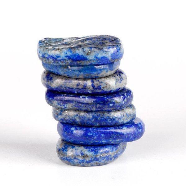 Lapis Lazuli Polished Palm Stone Set