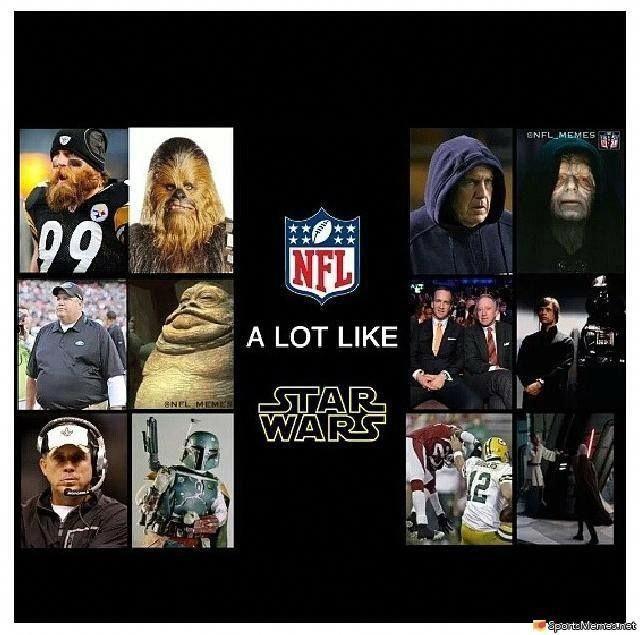 nfl memes | NFL & Star Wars Meme #interestingsportsmemes