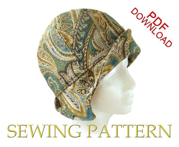 SEWING PATTERN  Clementine 1920's Twenties by ElsewhenMillinery, $12.00 Perfect for chemo patients