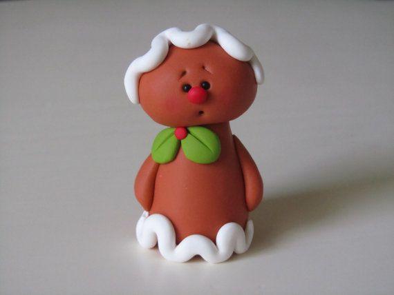 Handmade Polymer Clay Gingerbread Man