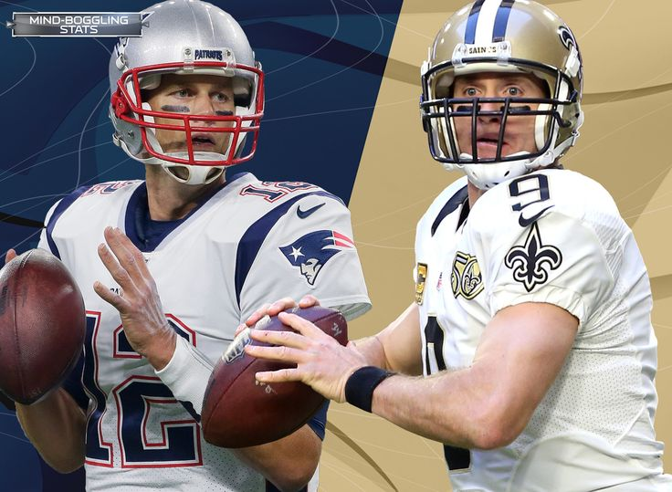 Great Minds ~ Tom Brady and Drew Brees have combined for 128,251 career passing yards - most of any opposing QBs entering a game in NFL history. That's equivalent to nearly 73 miles of passing yards. Drew Brees is unfazed by Tom Brady and Bill Belichick. Brees is the only QB to make 4+ starts against Brady and have a winning record against TB12 (3-1). Brees is also the only QB with at least 100 pass attempts and a 100+ passer rating (123.1) against the Patriots in the Belichick era (since…