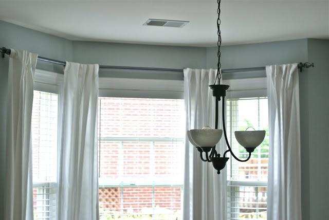 DIY bay window curtain rod | Home Sweet Home | Pinterest