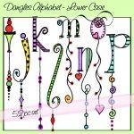 ♥♥ ~ Dangles Alphabet, Lower Case i j k l m n o p by Olivia and company. ~
