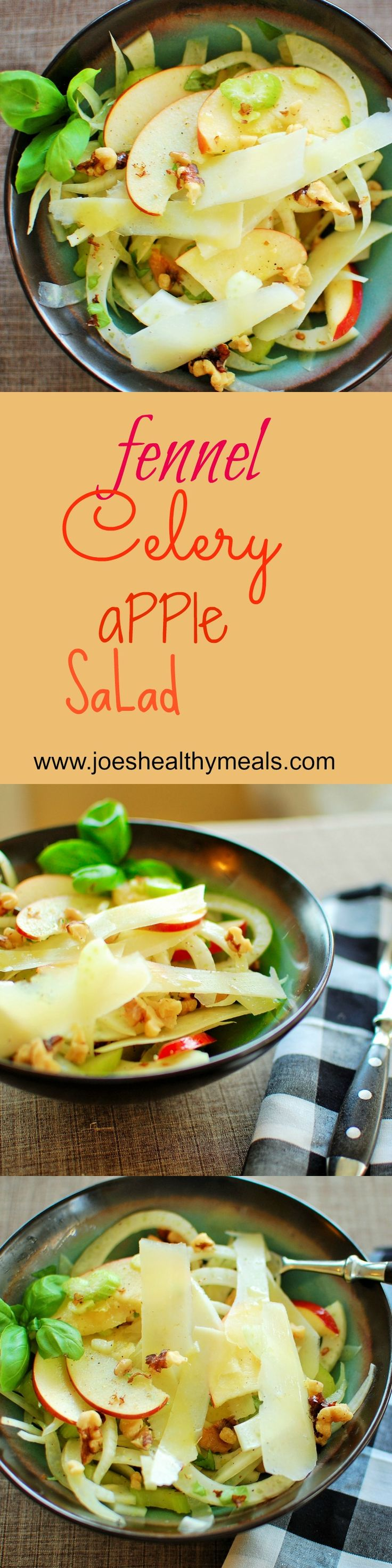 Fennel, celery and apple salad. http://www.joeshealthymeals.com/2015/01/02/fennel-celery-apple-salad/