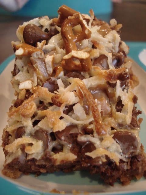 Caramel Pretzel Magic Bars - Dessert Now, Dinner Later!