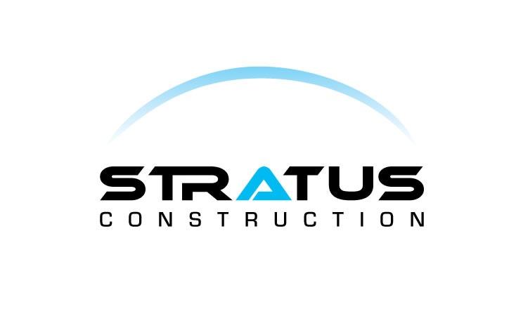 stratus construction logo design