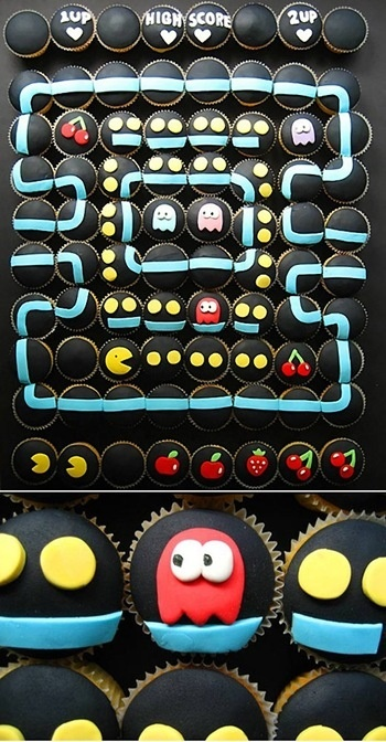 Pacman Cupcakes: Birthday, Idea, Videos Games, Parties, Wedding Cupcakes, Pac Man Cupcakes, Cupcakes Rosa-Choqu, Cupcakes Cakes, Pacman Cupcakes