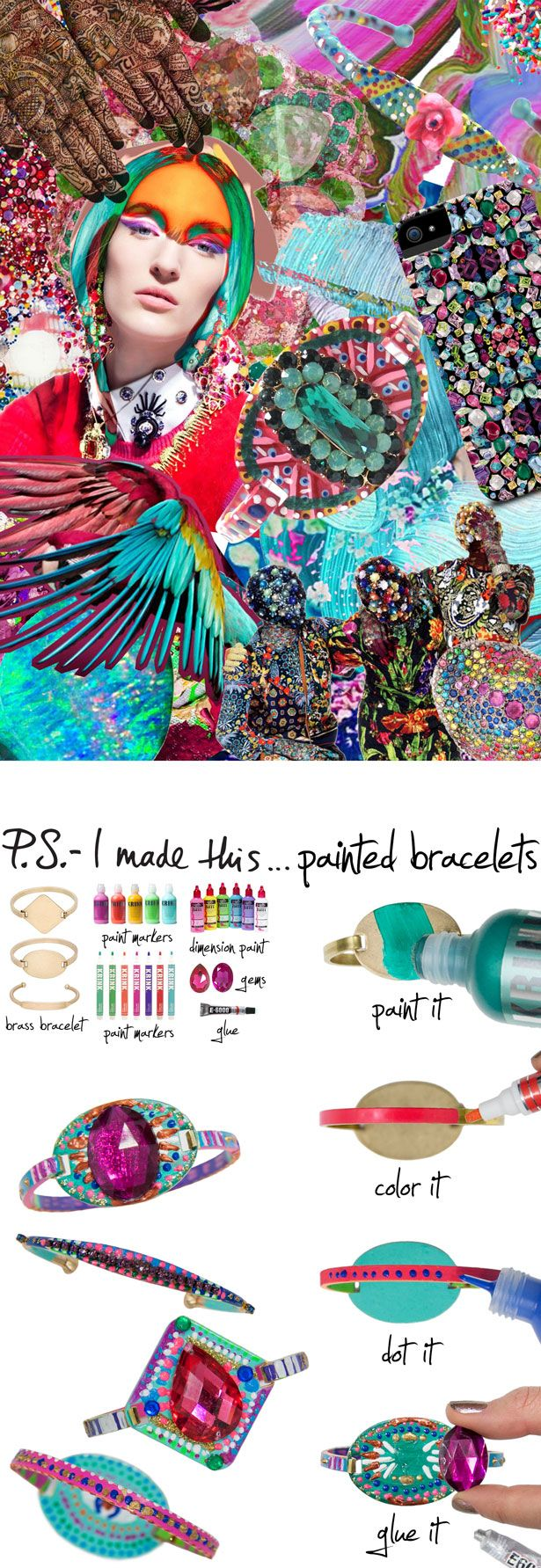 P.S.- I made this...Painted Bracelets #PSIMADETHIS #DIY
