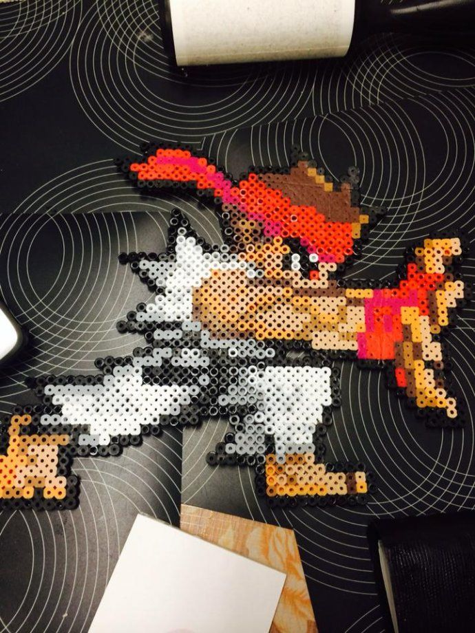 Ryu Street Fighter perler beads by missxbebe