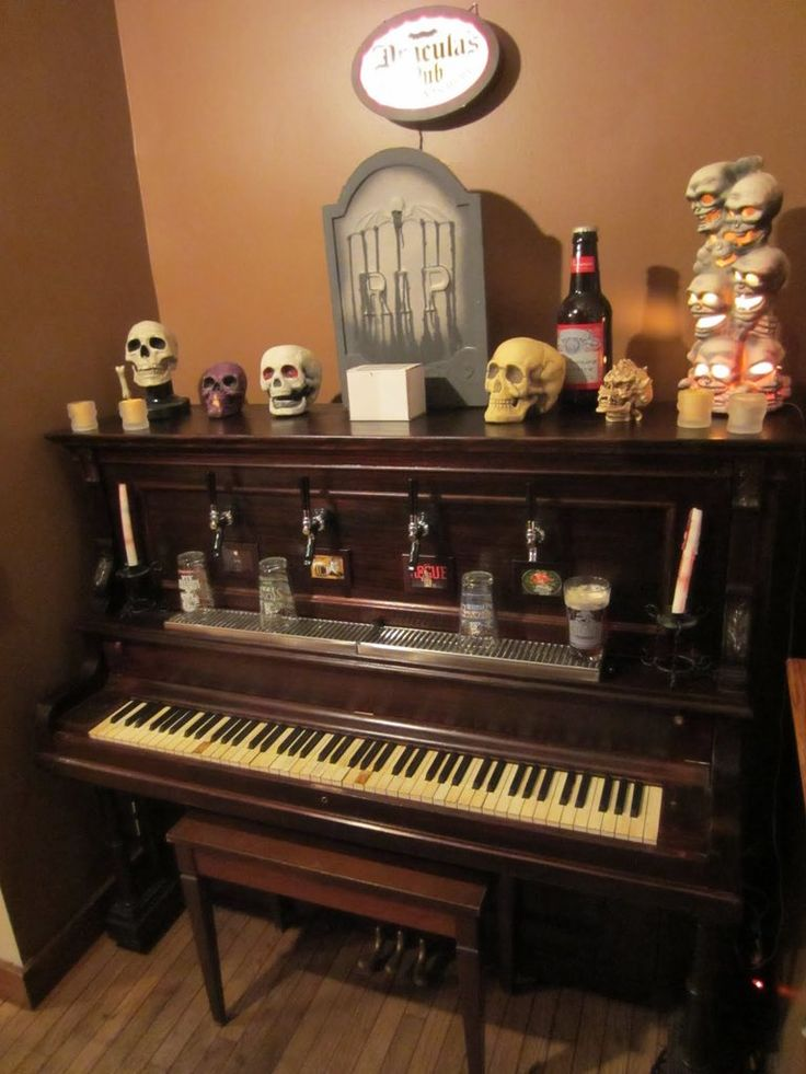 piano converted into kegerator home reno ideas cool