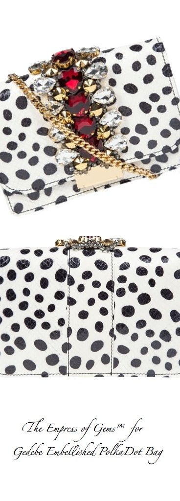Gedebe Embellished Polka-Dot Clutch Bag - The Empress of Gems™