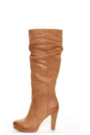 Jessica Simpson Keaton Tan Winter Haze Slouchy High Heel Boots - $187.00