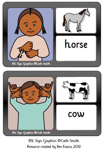 Flashcards with a farm theme.