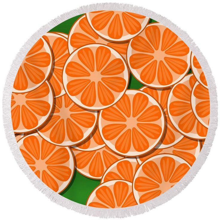 Orange citrus slices #orange #citrus #slices #pattern #round #beachtowel #summer #fruit #food #fresh