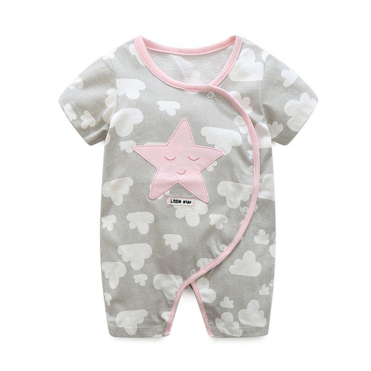 2017 лето девочка одежда 100% хлопок трико короткие детские комбинезоны бренд детская одежда мальчиков clothing infant clothing купить на AliExpress