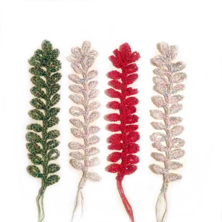 Crochet Christmas Leaf Garland.