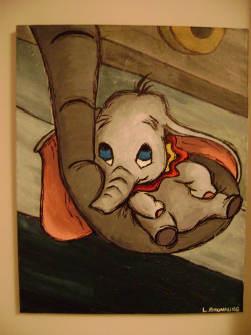 Baby Dumbo. This part is the saddest part in the whole movie.