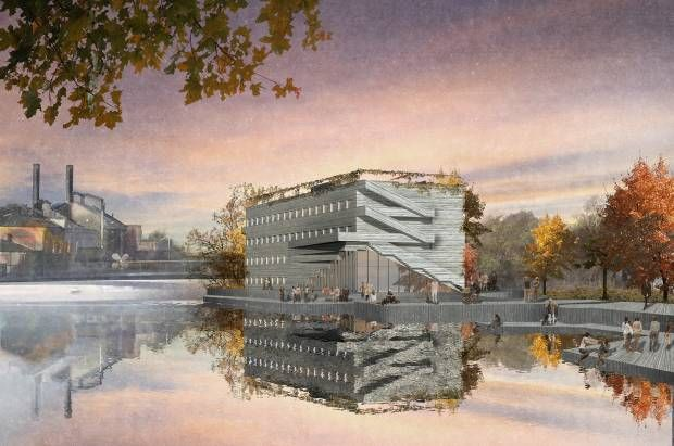 Boutiquehotell med publik takterass och restaurang. (arkitektskiss) Tjuren projektparnter.