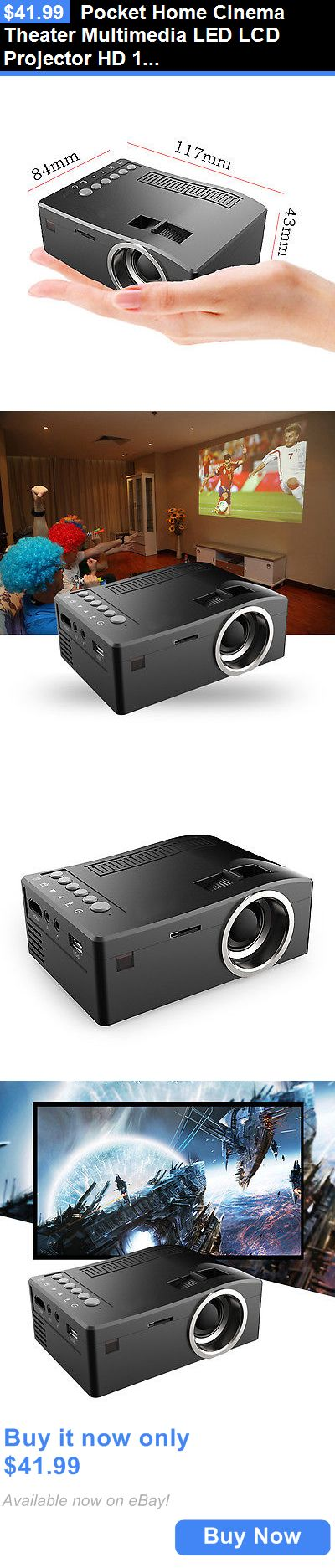 Home Audio: Pocket Home Cinema Theater Multimedia Led Lcd Projector Hd 1080P Pc Av Usb Hdmi BUY IT NOW ONLY: $41.99