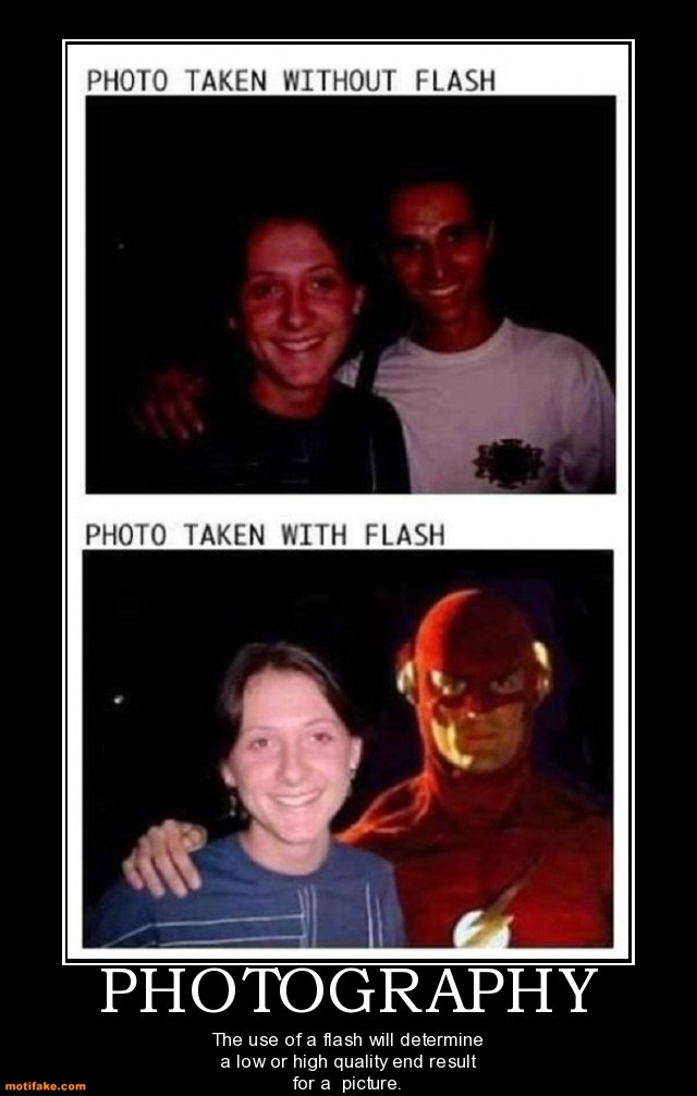 Flash photography :)